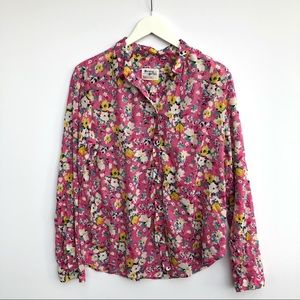 Anthropologie Holding Horses floral button down